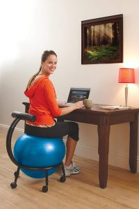 Gaiam Adjustable Custom-Fit Balance Ball Chair