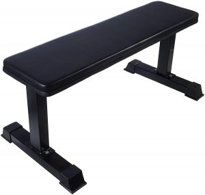 AmazonBasics Flat Weight Bench For Dumbbell Workout