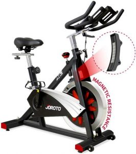JOROTO Belt Drive Indoor Cycling Bike with Magnetic Resistance