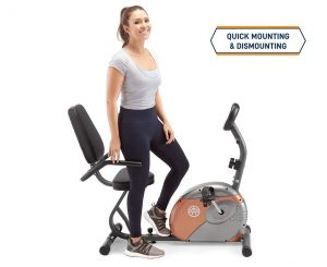 Marcy Recumbent Exercise Bike with Screen